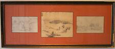 Leopold Munsch (1826-1888) Austrian artist landscape drawings Ebensee Austria