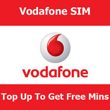 STD VODAFONE Pay As You Go SIM per tutti i telefoni TOP fino a ottenere libere min.