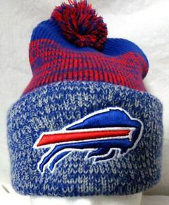 Buffalo Bills Unisex OSFM Embroidered Logo Cuffed Beanie w/ Pom Hat Cap E1 1150