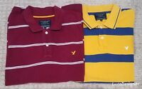 Lot of 2 American Eagle Men's Polos (Sz:L Large). Red & Yellow. Great Condition.