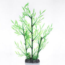 30cm Artificial Grass Bamboo Leaves Water Plants Fish Tank Aquarium Decoration