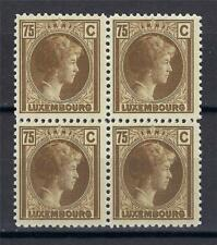 Luxembourg 1927 Sc# 175 Charlotte 75c bist-brown block 4 MNH