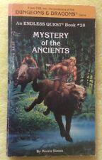 Rare ENDLESS QUEST Book #28 Mystery Of The Ancients, TSR D&D