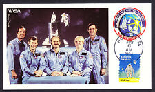 1984 Challenger NASA Space Shuttle Rocket Travel Postcard Astronauts Houston TX