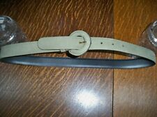 "JAEGER  SAGE GREEN ITALIAN  LEATHER BELT  32""/  81 CM  NEW RRP  £85"