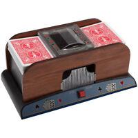 Wooden 2-Deck Automatic Card Shuffler For Poker Casino Games