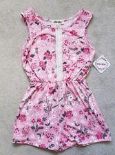 BNWT Girls Pink Floral Playsuit Romper 5-6 Years