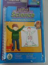 Leap Frog LeapPad 1 Book/Car Leap-2 Science My Food Goes Grades 1-3 Ages 6-8 NIP