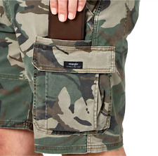 Mens Wrangler Camo Cargo Shorts w/ Flex Relaxed Fit Flat Front ALL SIZES 34-54