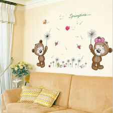 Removable Vinyl Wall Decal Nursery Stickers Kids Baby Room DIY Home Decor Bears