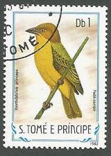 St. Thomas & Prince Islands Scott# 728, Xanthophilus Princeps Bird, Used, 1983