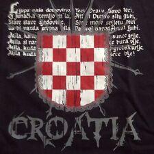 Croatia L T-Shirt Kroatien Hrvatska Ustasa Za dom spremni ljepa nasa Domovino