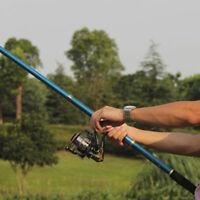 2.1m Professional Carbon Fiber Telescope Fishing Rod Travel Sea Spinning Pole