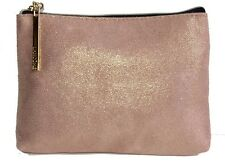 Lancome Cosmetic Bag Make Up Pouch Faux Suede Shimmer Dots 5 X
