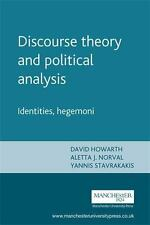 Discourse theory and political analysis: Identities, hegemoni, , Acceptable Book