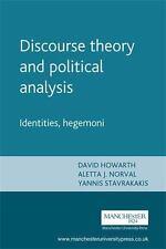 Discourse theory and political analysis: Identities, hegemoni