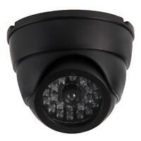 LED Flashing Security Camera Surveillance Indoor Outdoor Waterproof Black