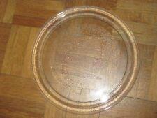 Plateau de micro ondes en verre 24,5 cm de diamètre en TBE