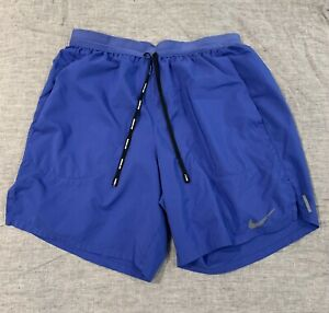 Nike Athletic Shorts Mens Small Blue W/ Brief Under.