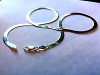 Best Seller- Flexible 3.5 mm Herringbone Sterling Silver Chain - .925 Pure