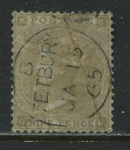 Nice 1862 9d straw GF with Tetbury Jan 15th 1865 CDS