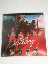 Glory Laserdisc Widescreen Edition Civil War Drama Broderick Morgan Freeman