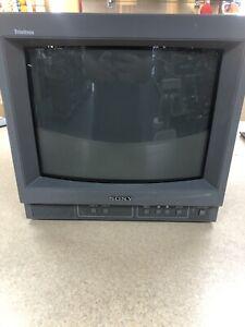 "VINTAGE Sony Trinitron PVM-14N5U 14"" CRT Color Retro Video Gaming Monitor GAMER"