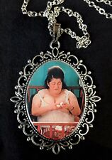 Egg Lady Pink Flamingos Large Silver Pendant Necklace Waters Cult Edith Massey