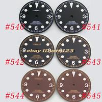 30.5mm Coffee/Black watch Dial fit Miyota 8205/8215,Mingzhu DG2813/3804 watch
