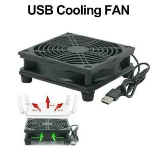 Router fan DIY PC Cooler TV Box Wireless Cooling Silent DC Quiet USB 5V W1N7