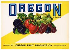 RARE ORIGINAL VINTAGE CAN CASE LABEL 1950S SALEM OREGON MIXED FRUIT PRODUCTS
