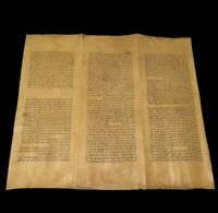 RARE Deer Skin Handwritten Torah Hebrew Bible Manuscript - Turkey - Ca 1400-1700