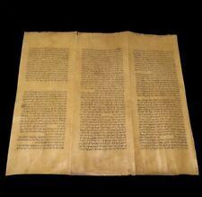 RARE Deer Skin Handwritten Torah Hebrew Bible Manuscript - Turkey - Ca 1400-1700