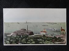 Rare Antique PC  New York City, NY Harbor Battery, Aquarium, Statue of Liberty
