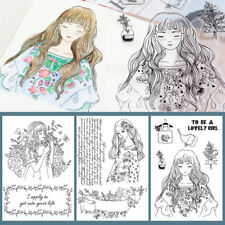 Silicone Rubber Clear Stamp Seal Scrapbooking Kids DIY Diary Photo Card 1pc A