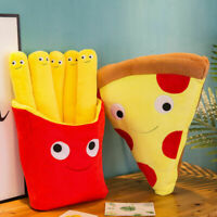 Cute 3D French Fries Pizza Pillow Cushion Creative Cuddly Stuffed Toys Kids Gift