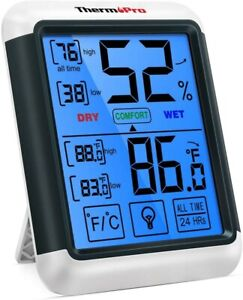 ThermoPro TP55 Indoor Thermometer Humidity Monitor Jumbo Touchscreen