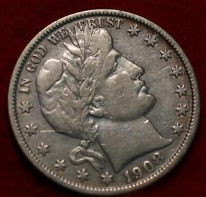 1908-S San Francisco Mint Silver Barber Half Dollar