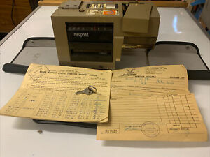VINTAGE FRANKING MACHINE RONEO NEOPOST MAIL PMG GPO STAMP OFFICE DESK PEN