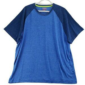 Foundry Mens Active T Shirt Big 3XL Heathered Blue Stretch Odor Control NW