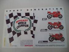 advertising Pubblicità 1992 MOTO DUCATI 851/888 SP4/888 RACING