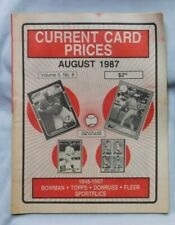 August 1987 CURRENT CARD PRICES George Bell Mark McGwire Babe Ruth roger Maris