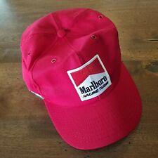 Marlboro Vtg Patch Racing Team Black Snapback Hat Cap Nascar Trucker