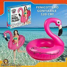 Ciambella Gonfiabile Fenicottero Rosa Pink Flamingo Gigante da per Mare Piscina
