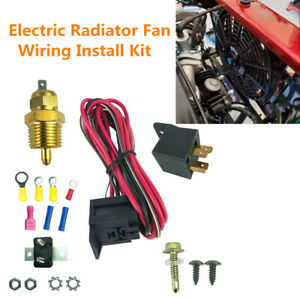 Electric Radiator Fan Wiring Install Kit Complete 50 Amp Relay 185° Thermostat