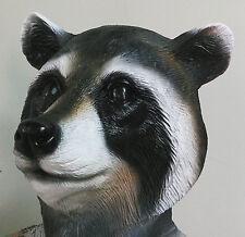 Raccoon Mask Latex Overhead Animal Fancy Dress Halloween Zoo Rocket Costume