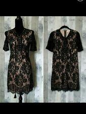 Love Tree Black /Nude Lace Dress Size L