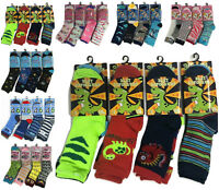 Girls Boys 6 Pairs Children's Kids Soft Socks Designer Character Print All Sizes