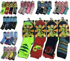Girls Boys 6 Pairs Children's Kids Soft Socks Designer Character Print All Sizes