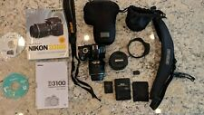 Nikon D3100 14.2MP DSLR Camera - Kit w/ AF-S DX VR 18-55mm Lens, w/ Extras